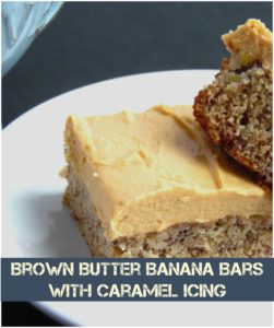 brown butter banana bars with caramel icing recipe