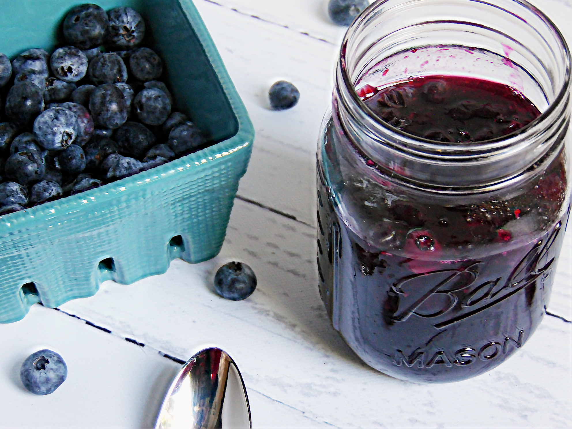 5 Minute Blueberry Lime Syrup