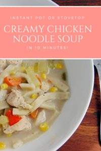Creamy Chicken Noodle Soup #instantpot #instantpotsoup #souprecipe #chickensoup #yum