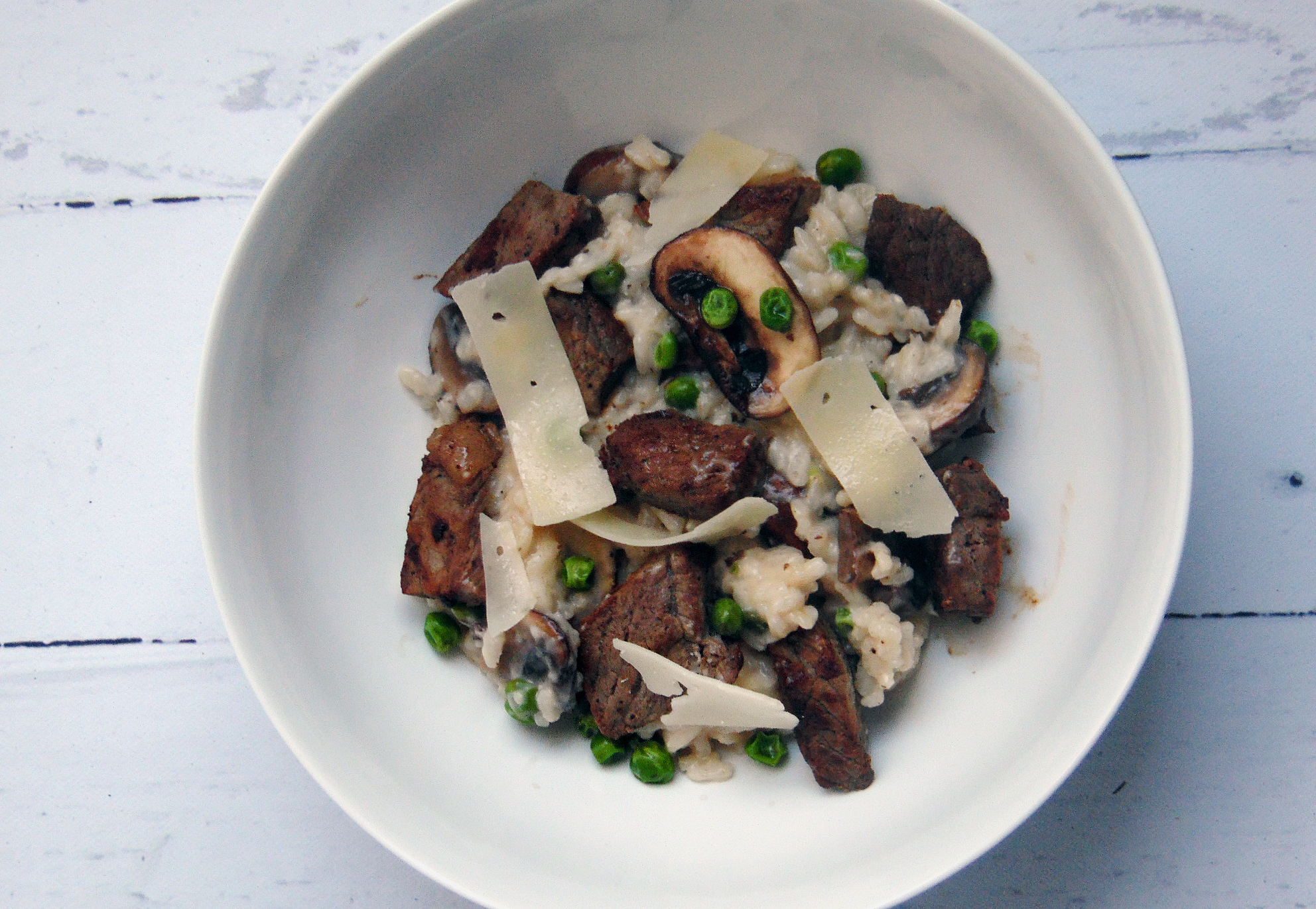 Steak and Mushroom Risotto – 30 Minutes From Start to Finish!
