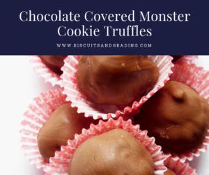 monster cookie truffles