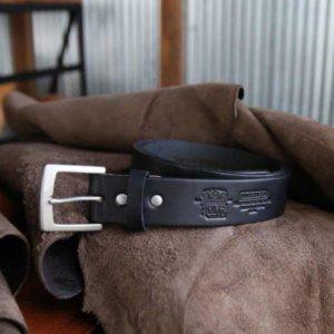 holtz black leather belt