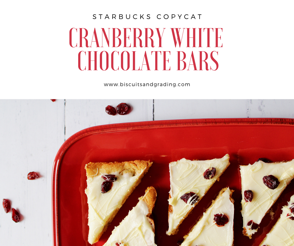 Cranberry White Chocolate Bars (Starbucks Copycat)