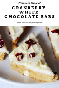 cranberry white chocolate bars #cranberrybliss #starbuckscopycat #christmas #recipes #christmascookies
