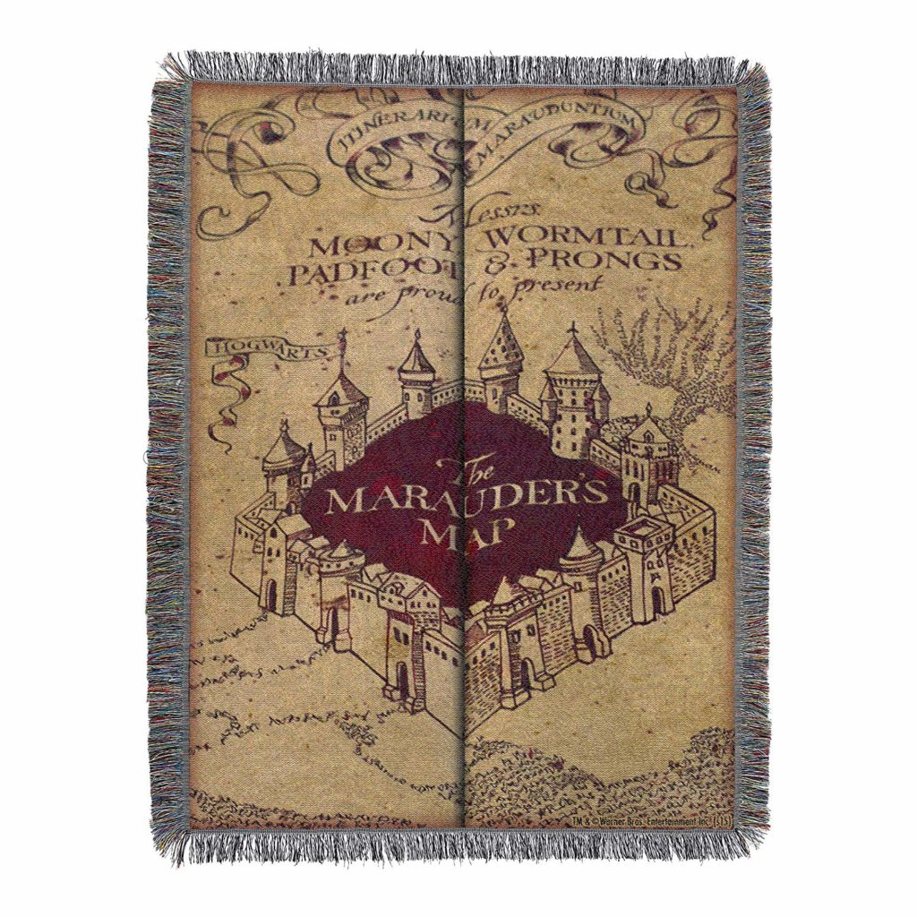 marauder's map blanket harry potter