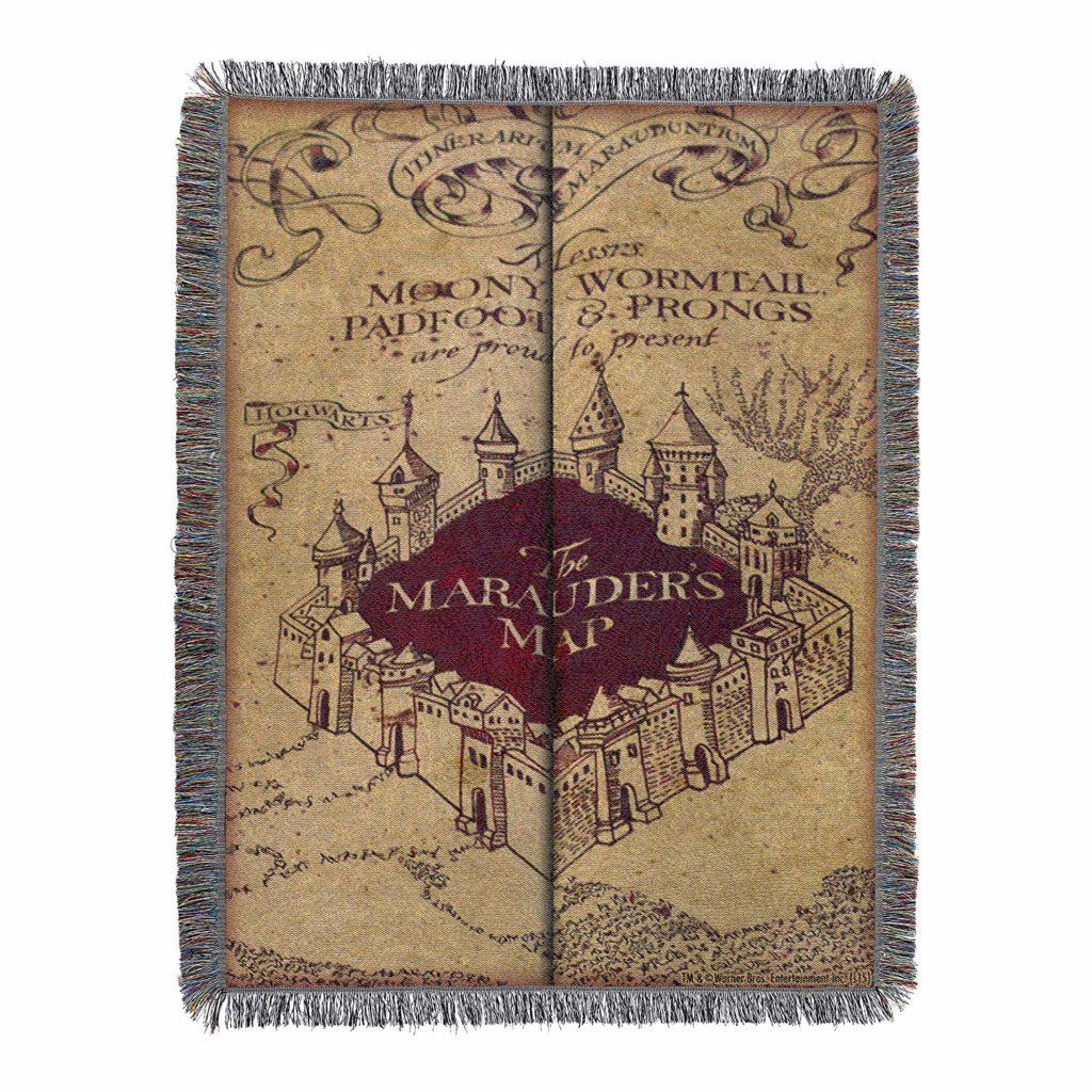 marauder's map blanket harry potter