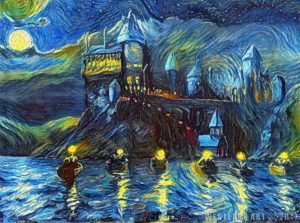 starry night hogwarts harry potter
