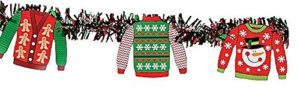 ugly sweater garland banner