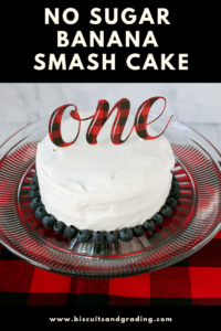 No Sugar Banana Smash Cake #firstbirthday #smashcake #1stbirthday #nosugar #sugarfree #sugarfreecake