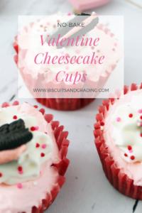 No-Bake Valentine Cheesecake Cups #nobake #valentinedessert #dessert #yum #foodblog #oreo #cheesecake