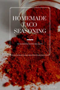 Homemade Taco Seasoning #homemade #fromscratch #tacotuesday #instantpot