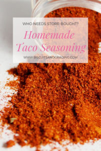 Homemade Taco Seasoning #homemade #fromscratch #tacotuesday #instantpot