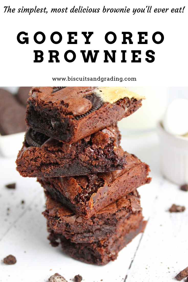 Goeey Oreo Brownies #quickdessert #desserthack #oreos #foodblog #getinmybelly