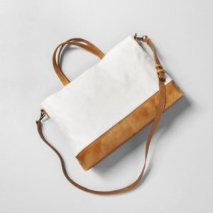 Sour Cream Satchel with Crossbody Strap - Hearth & Hand™ with Magnolia