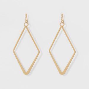 Open Work Diamond Shape Drop Earrings - Universal Thread™