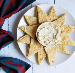 displayed star of 2 ingredient pita chips and instant pot parmesan artichoke dip