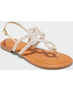Women's Jana Braided Thong Ankle Strap Sandal - Universal Thread™