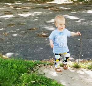 boy and his stick
