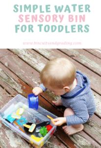 Simple Water Sensory Bin for Toddlers