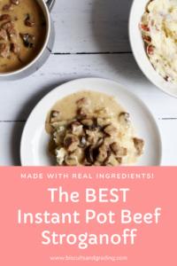 The BEST Instant Pot Beef Stroganoff