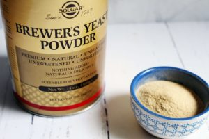 brewers yeast canister and bowl