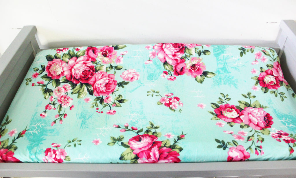 top view posh peanut changing pad cover