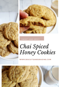Pinterest collage chai spiced honey cookies