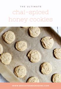 chai-spiced honey cookies