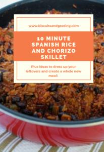10 Minute Spanish Rice and Chorizo Skillet Pinterest