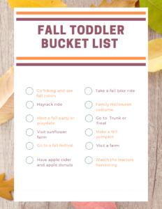 fall toddler bucket list png printable 2