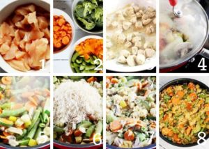 Coconut Chicken Curry Collage