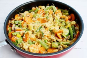 coconut curry angled skillet