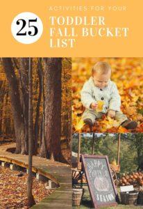 25 ideas for your fall bucket list #fallbucketlist #toddler #toddlermom