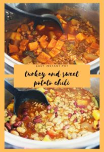 instant pot turkey and sweet potato chili