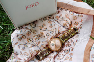 Jord Watch with Box and Pink Scarf