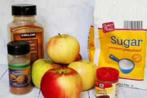 crockpot cinnamon apples ingredients 1