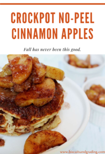 Crockpot No Peel Cinnamon Apples