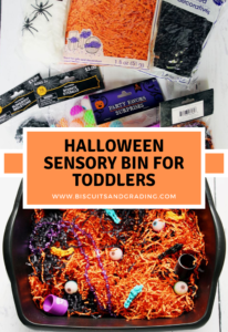 Halloween sensory bin