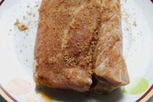 closeup of seasoned meat 1