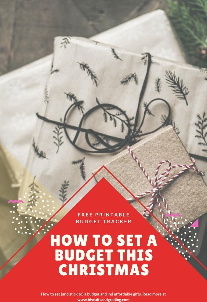 Christmas Budget Pinterest Image