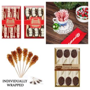 Collage of Stir Sticks for Coffee Lovers Gift Guide