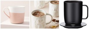 Collage of at Home Mugs Coffee Lovers Gift Guide