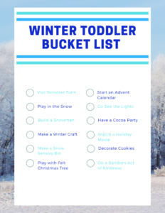 Winter Bucket List Printable Page 1