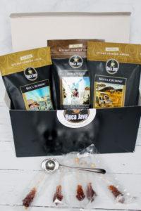 boca java gourmet coffee lovers gift set stir sticks out