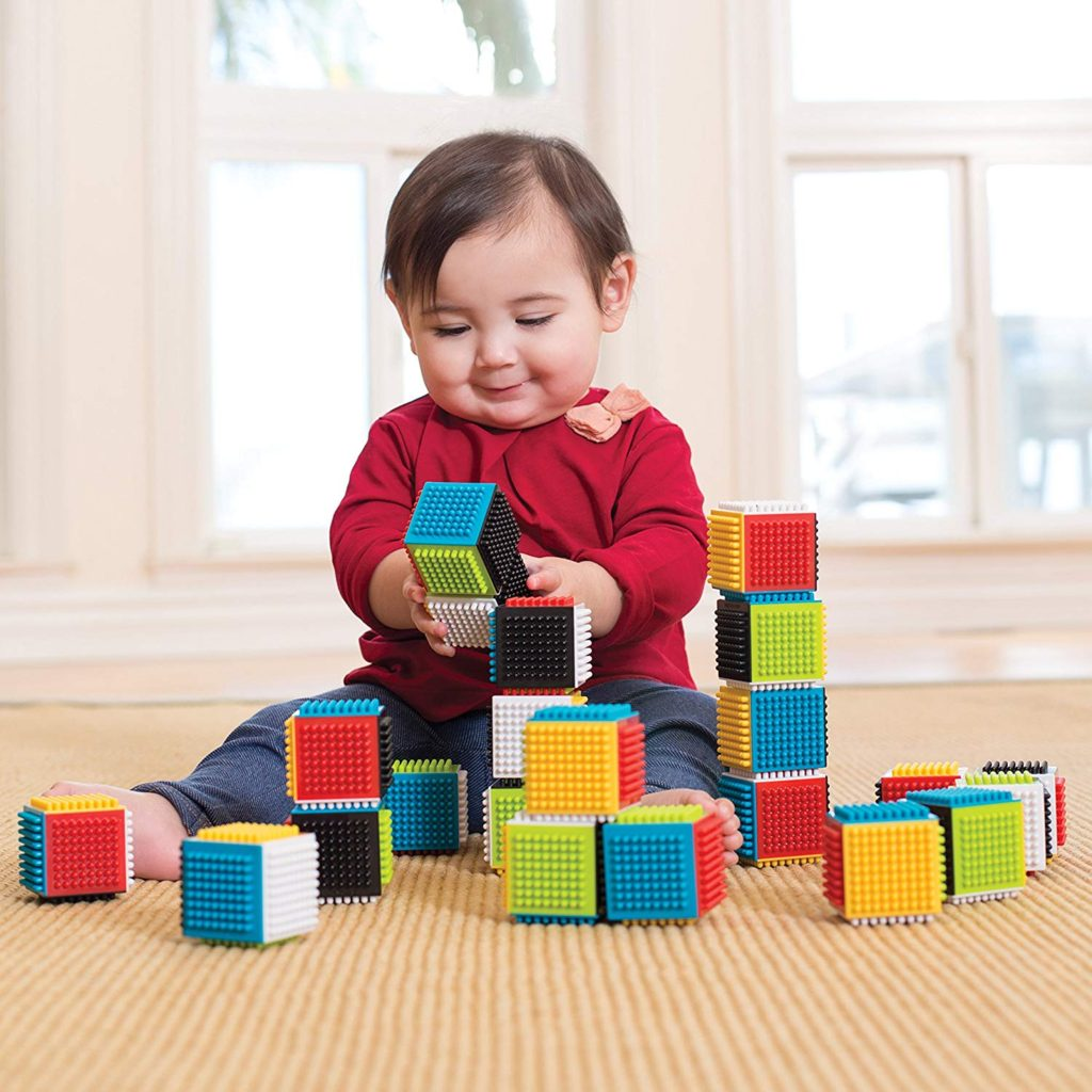press and play blocks for toddler stem
