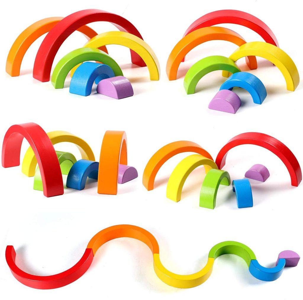 rainbow stacking blocks gift ideas