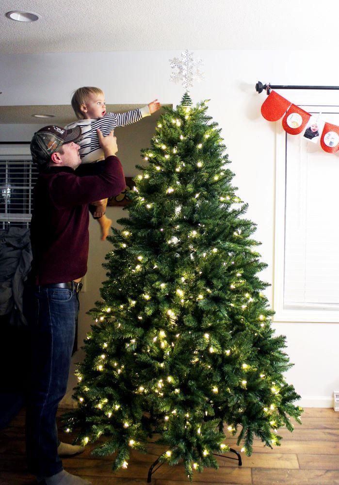 toddler putting star on 1