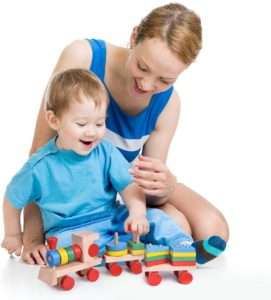 train stacking blocks STEM toy