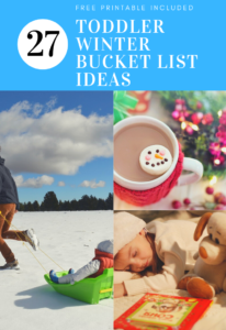 winter and christmas toddler bucket list