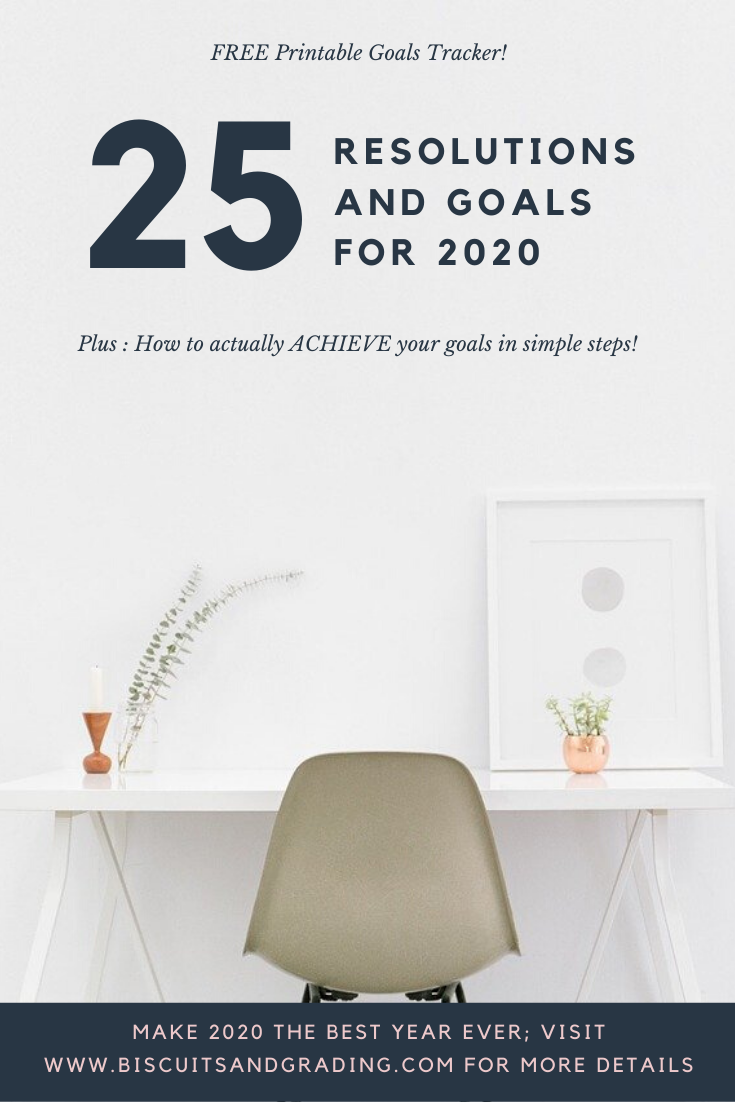 25 new year's goals and resolutions for 2020